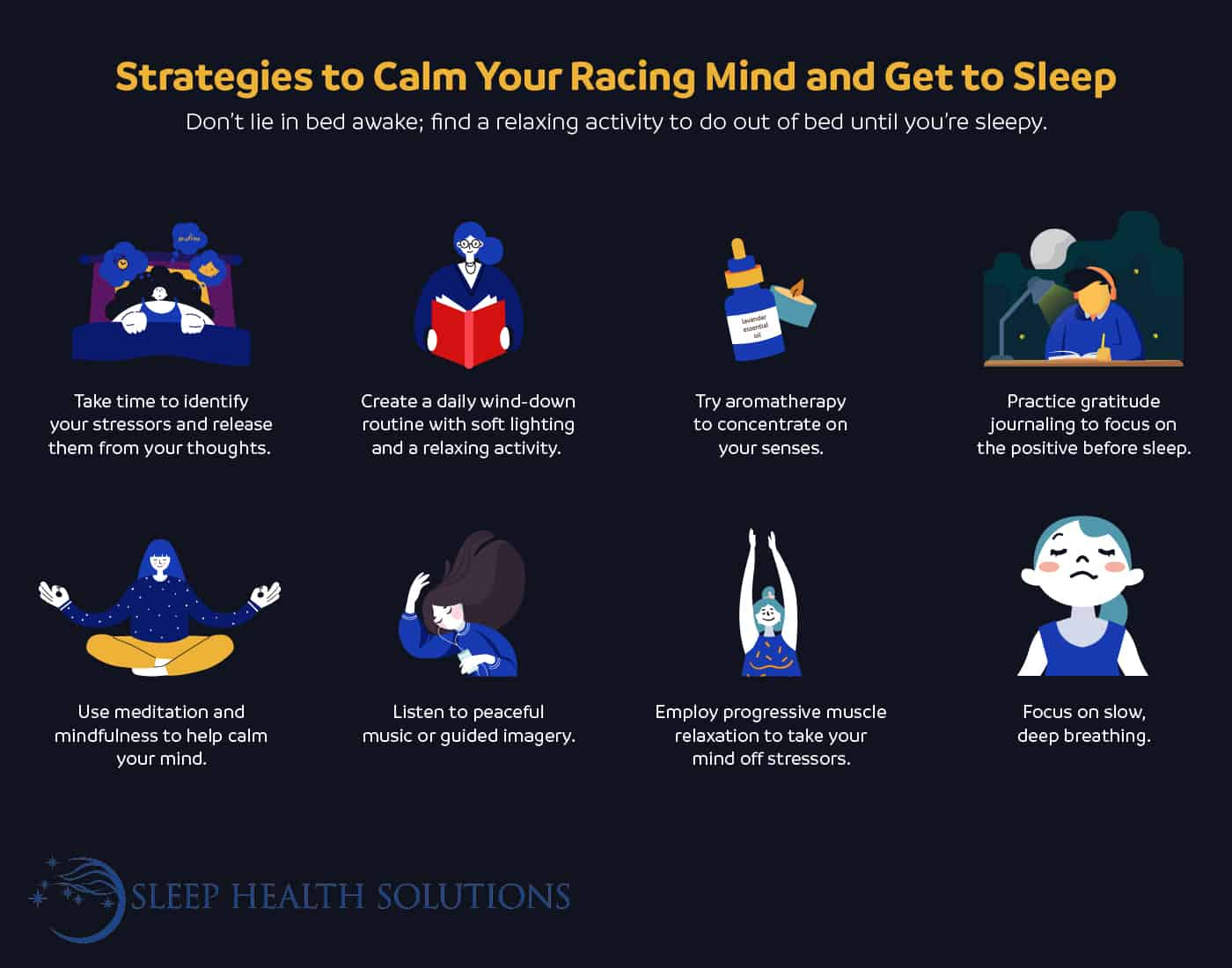 tips for calming your mind and falling asleep