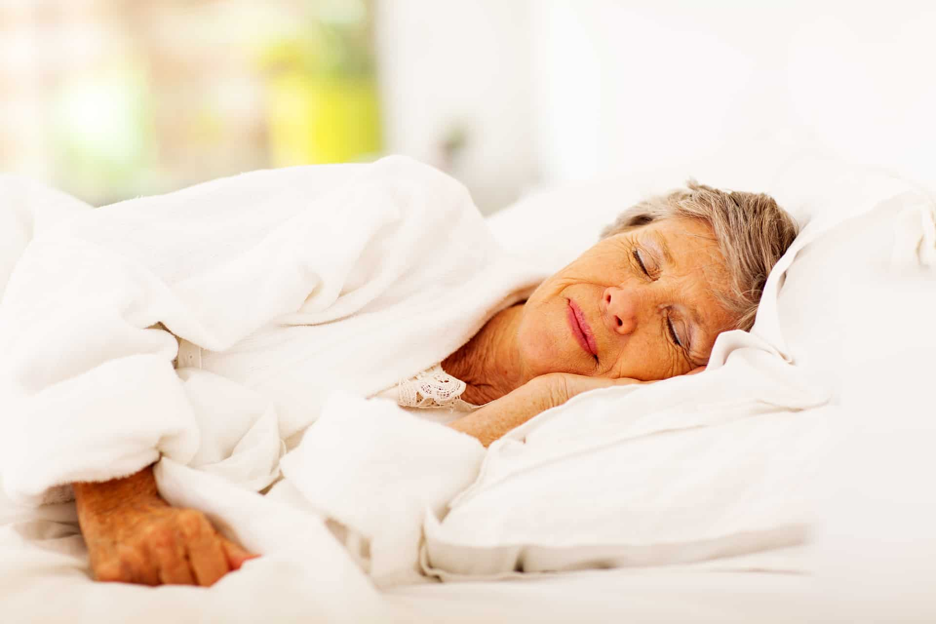 Sleeping Elderly Woman